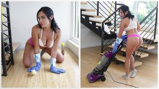 BANGBROS – Hot Latina Maid Selena Santana Polishes Bruno Dickemz's Knob